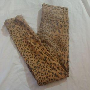 Vanilla Star Leopard Print Skinny Jeans